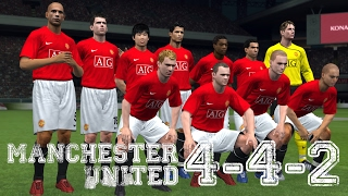 FORMATION TIPS PES 2017 // 4-4-2 MANCHESTER UNITED 2007/2008 FERGIE SYSTEM