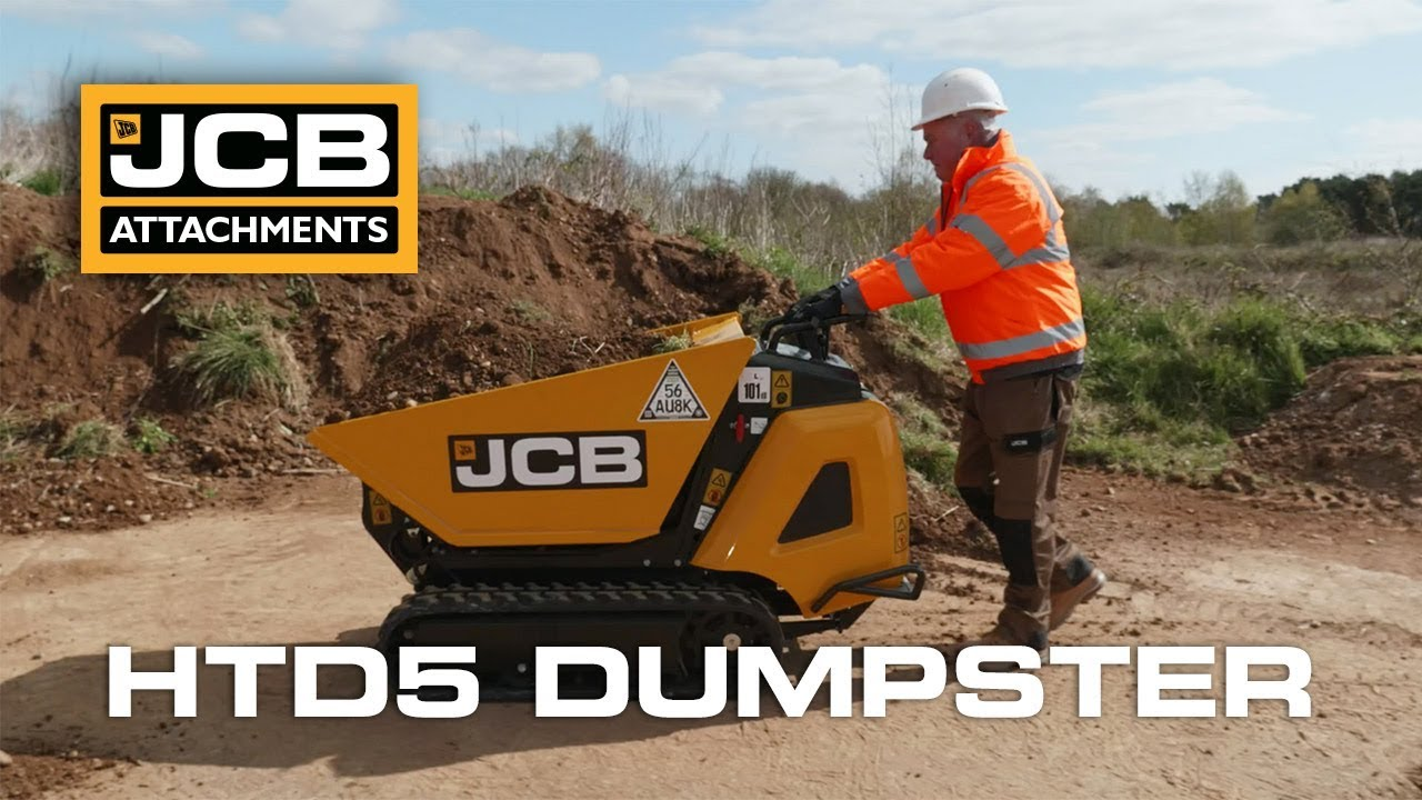JCB HTD5 Tracked Dumpster High Tip Demonstration