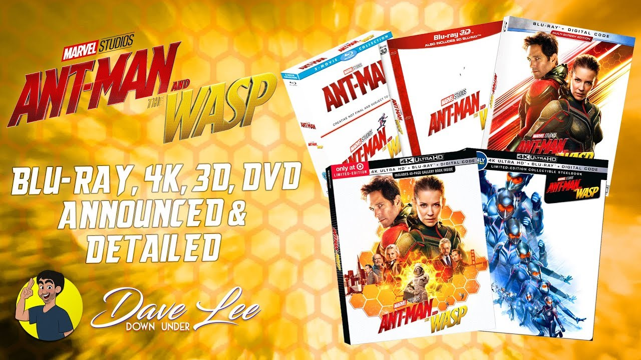 ant man and the wasp blu ray 4k 3d dvd announced detailed youtube. Black Bedroom Furniture Sets. Home Design Ideas