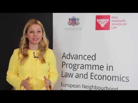 Participants stories: Tamta Tsotskhalashvili - Advanced Programme in Law and Economics