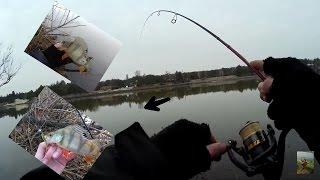 Мартовский Окунь /Ловля Окуня Весной на Ультралайт(Рыбалка видео)