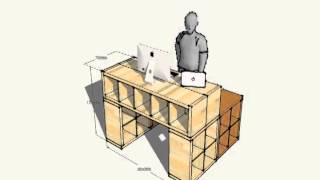Ikeahack Standing Desk Sketchup Animation