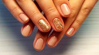 Дизайн ногтей гель-лак shellac - Слайдер дизайн (видео уроки дизайна ногтей)