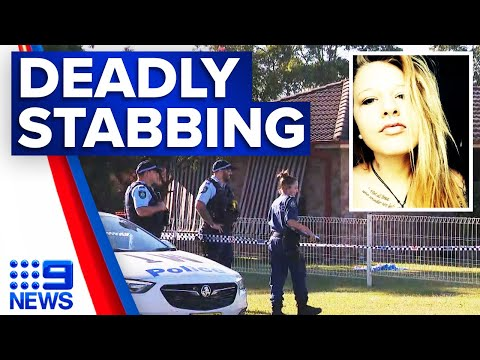 Woman accused of stabbing father to death | 9 News Australia thumbnail