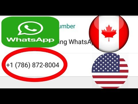 How To Use  Us And Uk Number For Whatsapp 2017