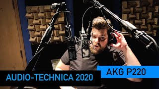 AKG P220 vs. Audio Technica 2020 | VO Mic Comparison