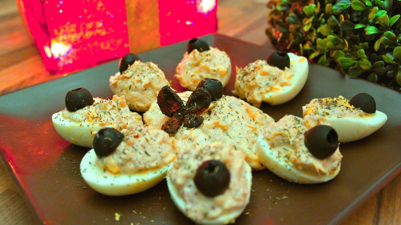 Huevos rellenos entrantes para navidad nochevieja o for Comidas para nochevieja