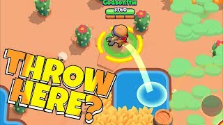 "BEST PLACE TO THROW!? ""BRAWL STARS"" TURRET TROLL!"
