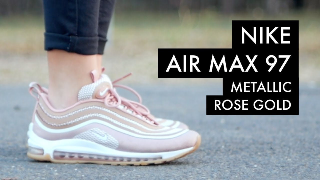 new concept 2c166 506d8 NIKE Air Max 97 'Metallic Rose Gold' | On-Feet