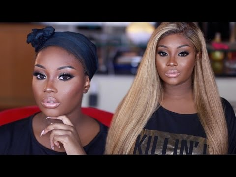 How I Flawlessly Apply My Blonde Lace Wig! | Makeupd0ll