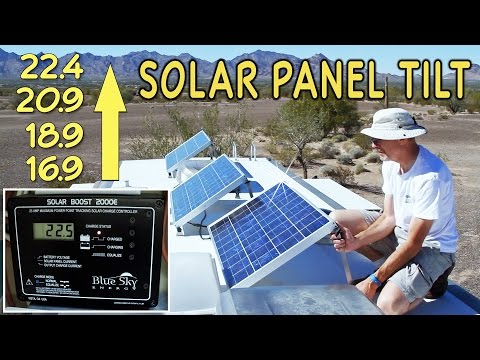 Solar Panel Tilting for Maximum Boondocking Power
