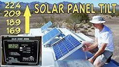RV Solar Panel Tilting for Maximum Boondocking Power || Off-Grid RV Solar Power!