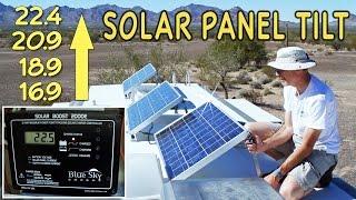 Solar Panel Tilting for Maximum Boondocking Power