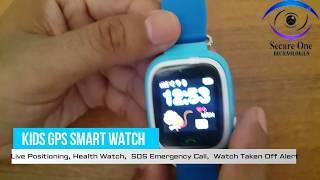 kids gps smart watch  sos kids safety settings q90