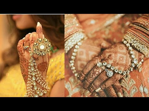Latest Stylish Wedding rings Designs//Trendy Ring Bracelet//Stylish Wedding hands jewellery designs