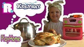Духовка PlayHome Keenway ЧУДО приготовили настоящую КАРТОШКУ и КУРИЦУ Видео для детей