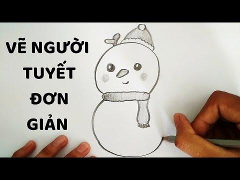 Cách vẽ Người Tuyết cực kì dễ thương – How to draw a Snowman