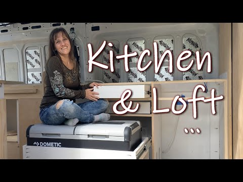 Van Conversion: Loft and Kitchen Area | Fridge Slide
