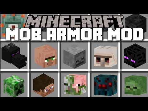Minecraft MOB ARMOR MOD / FIGHT AND SURVIVE THE MOBS AND WIN THEIR ARMOR!! Minecraft