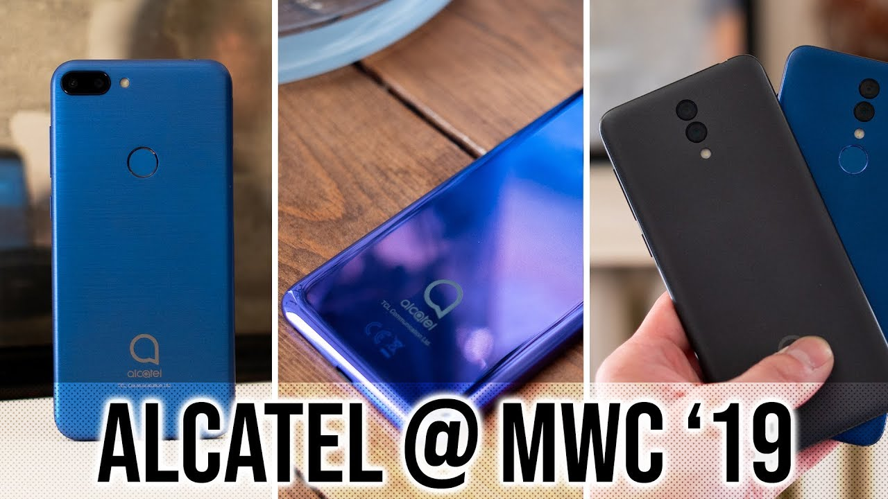 Alcatel 1s, 3, and 3L Hands On