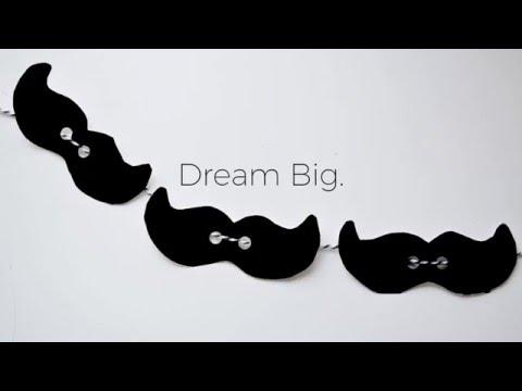 DIY Cinco De Mayo Mustache Banner