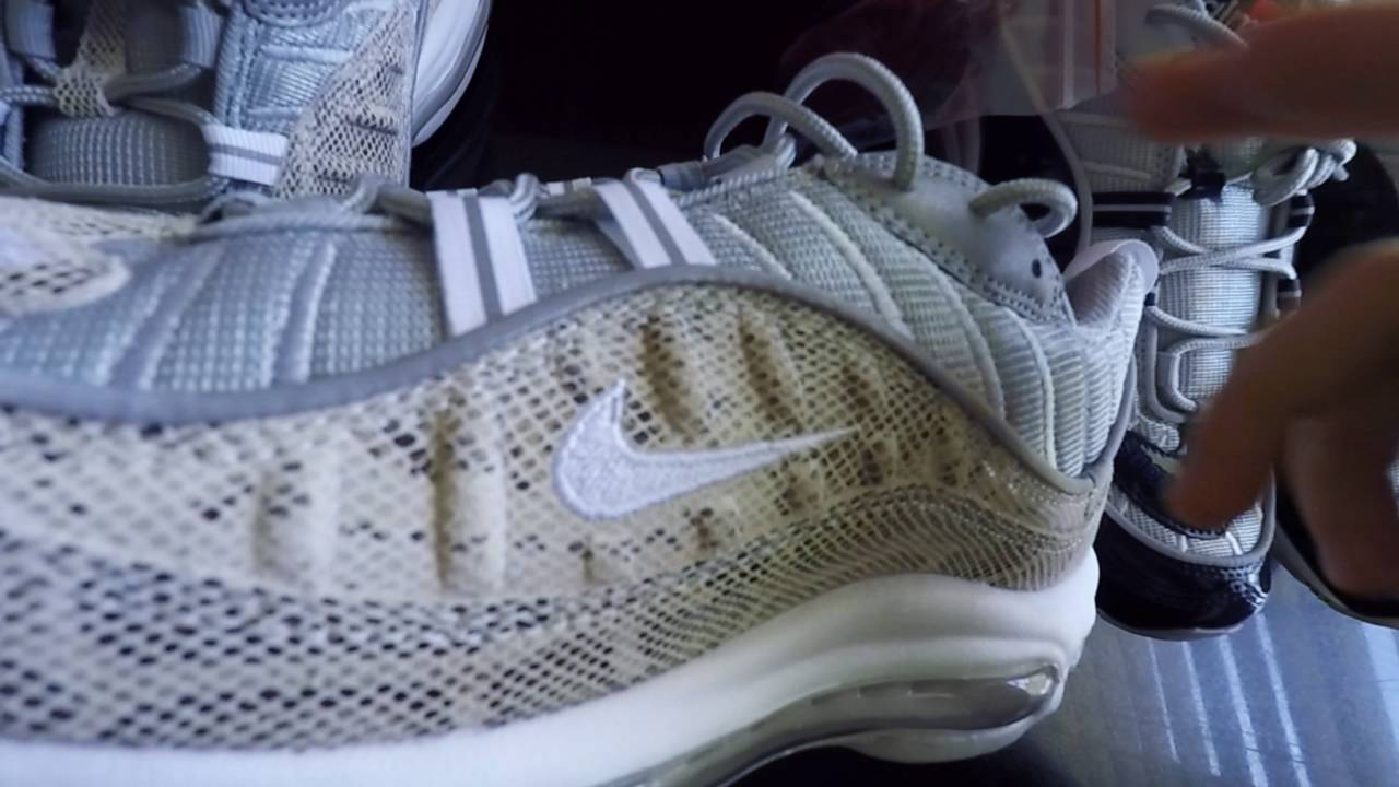 Nike Supreme Air Max 98 Snakeskin And Navy Review With On Feet Youtube