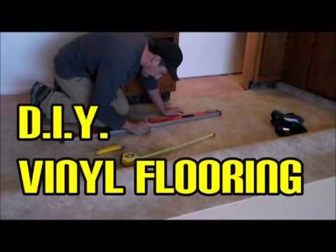 DIY vinyl flooring easy using Home Depot materials