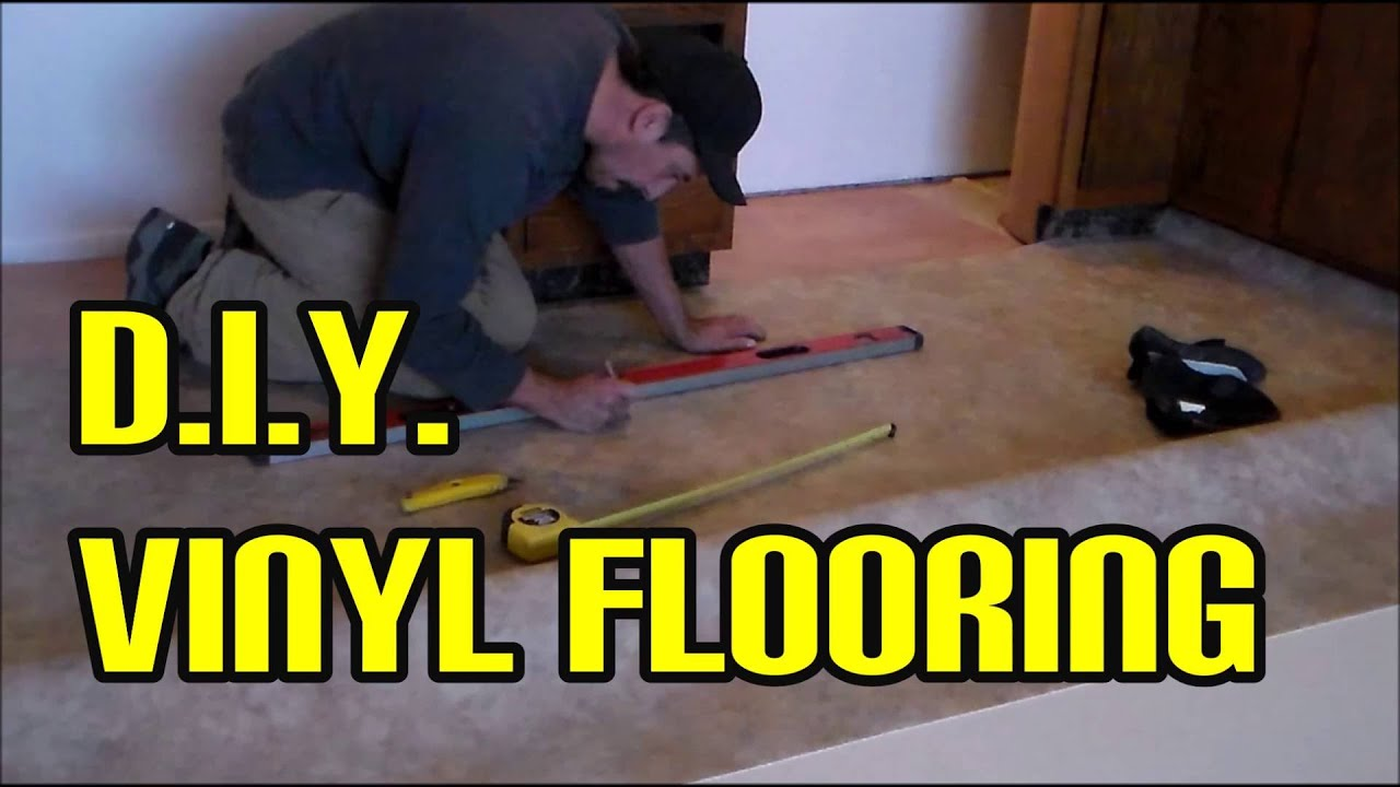 Diy Vinyl Flooring Easy Using Home Depot Materials