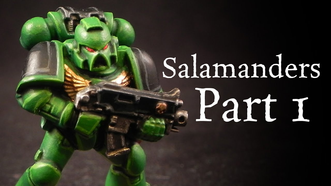 How to paint Salamanders Space Marines pt.1 - YouTube