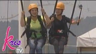 Kris Aquino and Shaina Magdayao experience giant swing