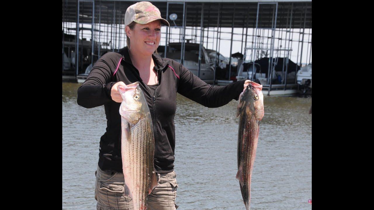 Striped bass on Keystone Lake
