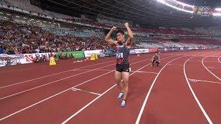 アジア大会ジャカルタ2018 陸上男子200m決勝 小池祐貴が金メダル