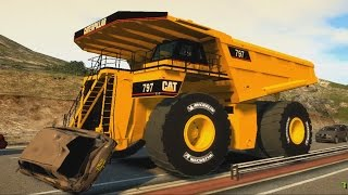 Biggest dumptruck in the world Caterpillar 797