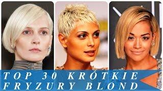 Top 30 krótkie fryzury blond