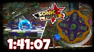 SONIC FORCES - Iron Fortress Speedrun (1:41:07)