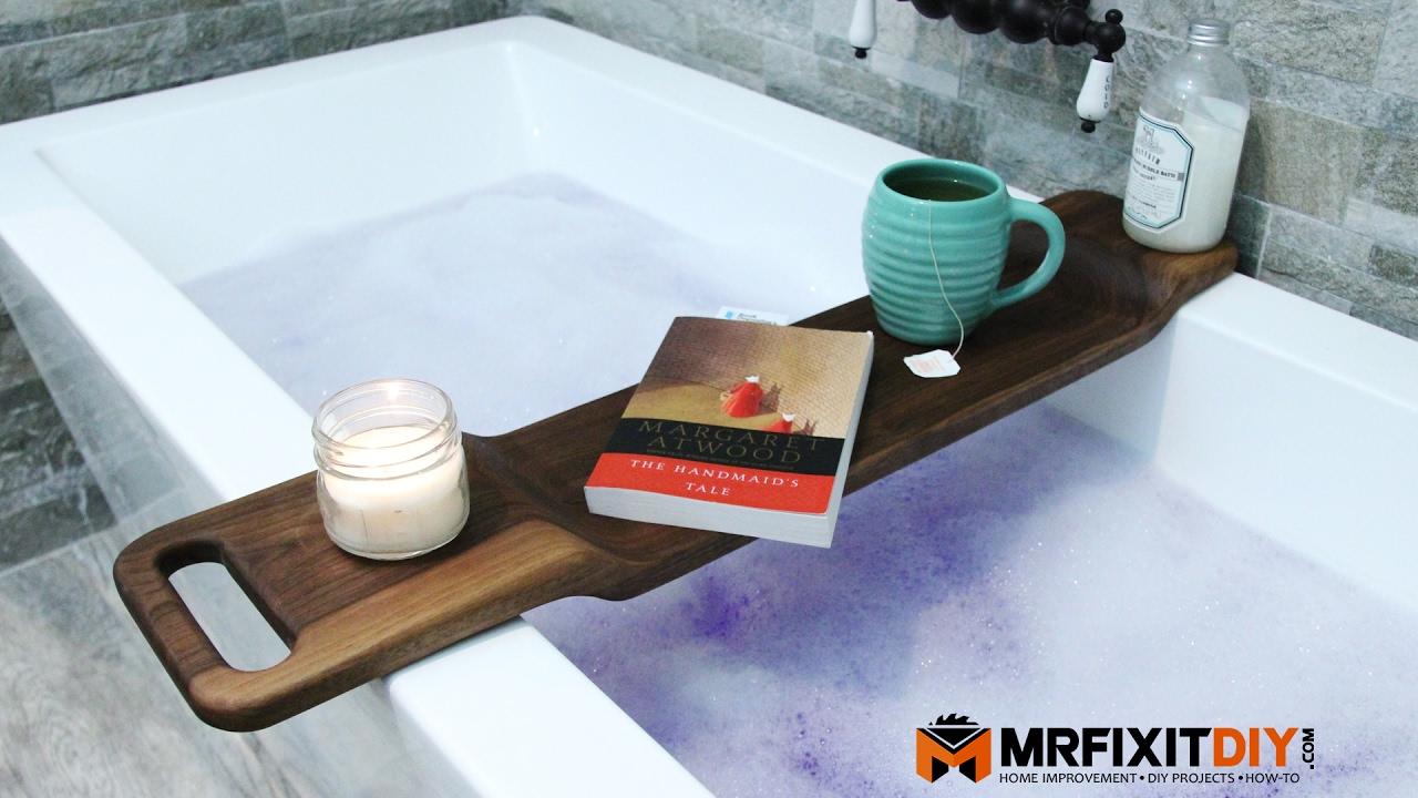 DIY Walnut Bath Caddy - YouTube