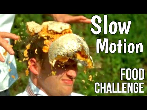 Food Challenge - Melon In the Face in Slow Motion - Slow Mo Lab