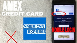 ✅  How To Register Log In Find Password Account AMEX American Express Credit Card Mobile Website 🔴