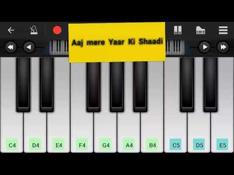 Piano tutorial of Aaj mere Yaar Ki Shaadi Hai