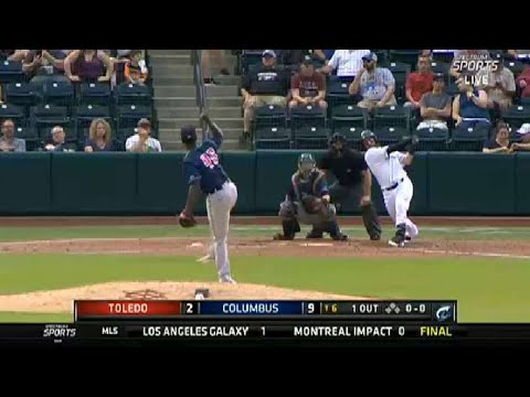 Columbus' Haase extends the lead with a homer
