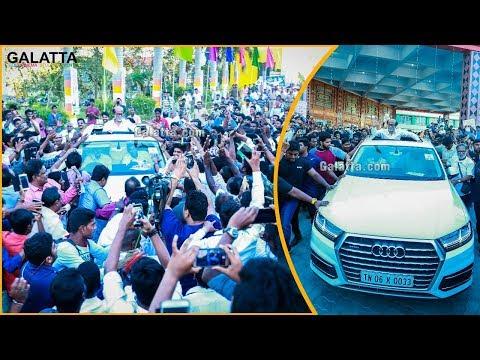 Superstar Rajinikanth Fans MASS Celebration | #Rajinikanthpoliticalentry | #MGRStatueOpening