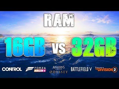 16GB Vs 32GB RAM Test In New Games