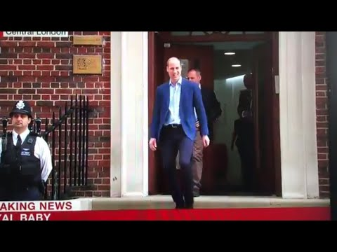 Prince William Leaving Hospital Following Birth To Collect George & Charlotte