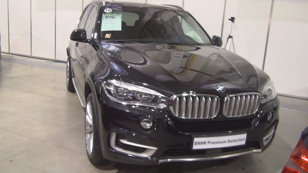 bmw x5 xdrive 40d black sapphire 2016 exterior and interior in 3d youtube. Black Bedroom Furniture Sets. Home Design Ideas