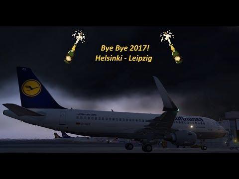X-Plane 11 | IVAO | Year's End Flight: Helsinki - Leipzig | Lufthansa A320  [GER | ENG]