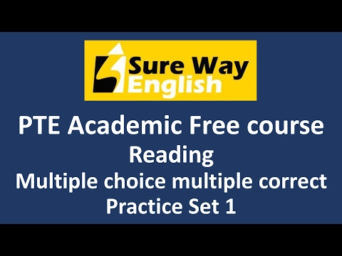 PTE Multiple choice Multiple answers Practice Questions with Answers and Explanations - PTE Reading