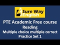 PTE Multiple choice choose Multiple answers Practice Set 1 - PTE Reading