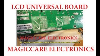 LCD TV UNIVERSAL BOARD INSTALLATION METHOD BY MAGICCARE ELECTRONICS