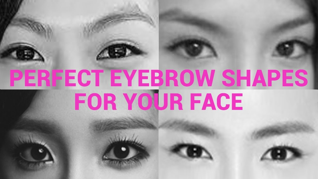 top 10 eyebrow shapes for asians eye youtube