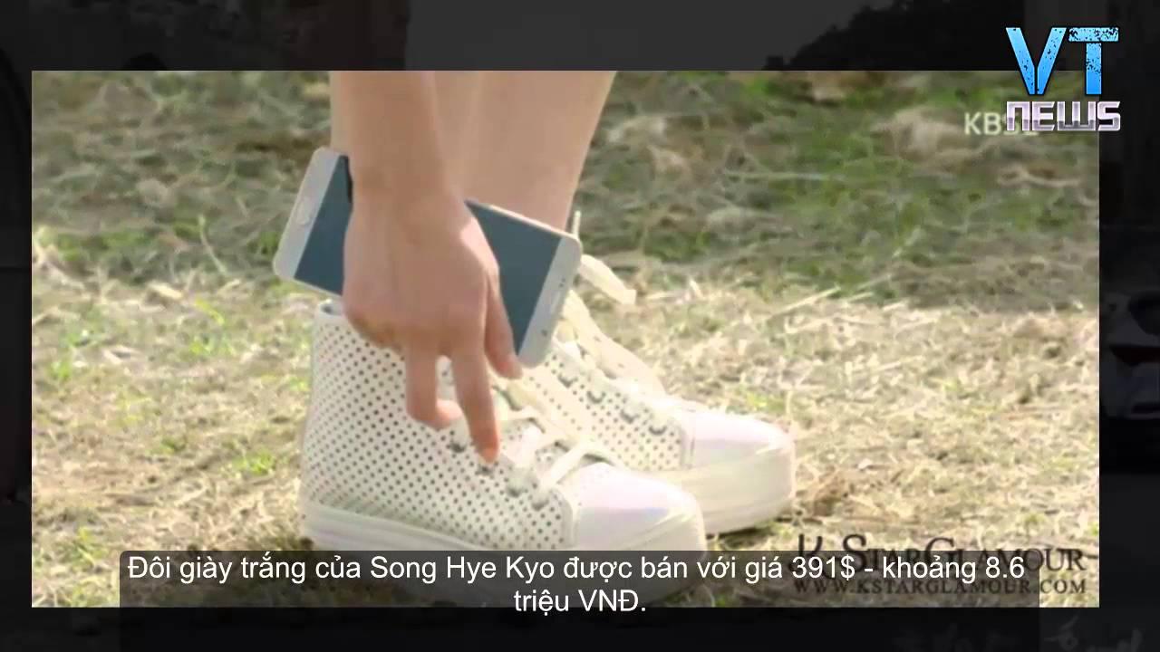 Giày sneaker trắng hơn 8 triệu của Song Hye Kyo